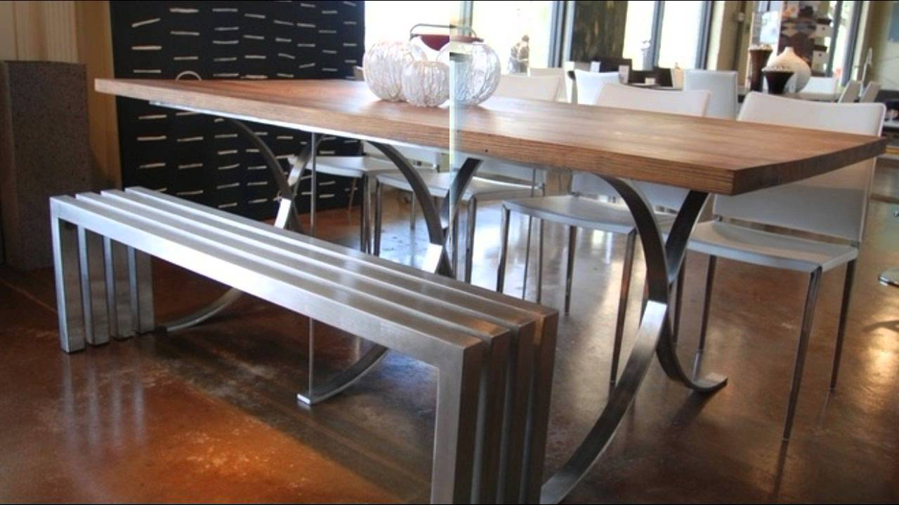 12 Cool Dining Table Ideas with Benches - YouTube
