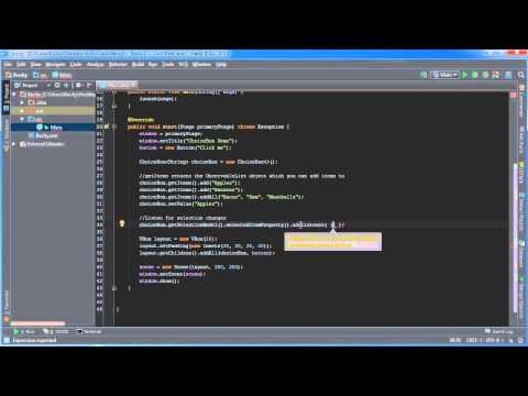 JavaFX Java GUI Tutorial - 13 - Listening For Selection Changes