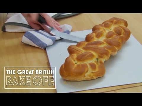 Making an Eight Strand Plaited Loaf - The Great British Bake Off