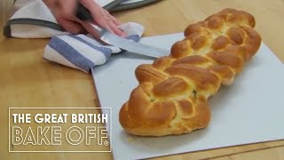 Making an eight strand plaited loaf / The Great British Bake Off