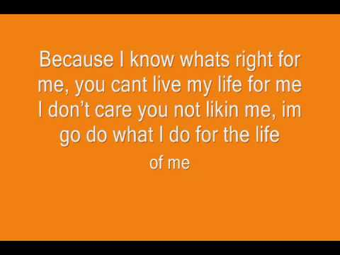 Frostmatic Life Of Me Lyrics On Screen