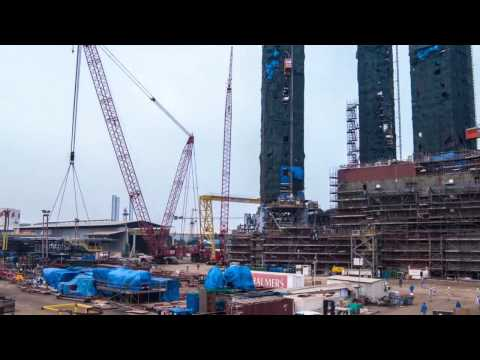 MOS Frontier Refit at Port Khalid Sharjah UAE (2014) - Time Lapse