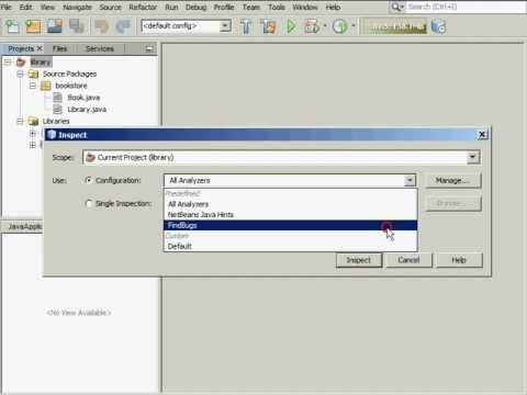 Static Analysis of Java Code in NetBeans IDE