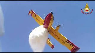 Canadair in volo a Guardialfiera