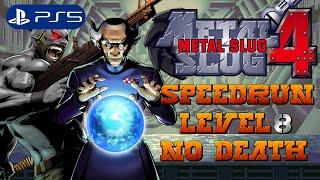 Metal Slug 4 (PS5) - Full Speedrun Level-8 No Death [Fio - 33 Mins]