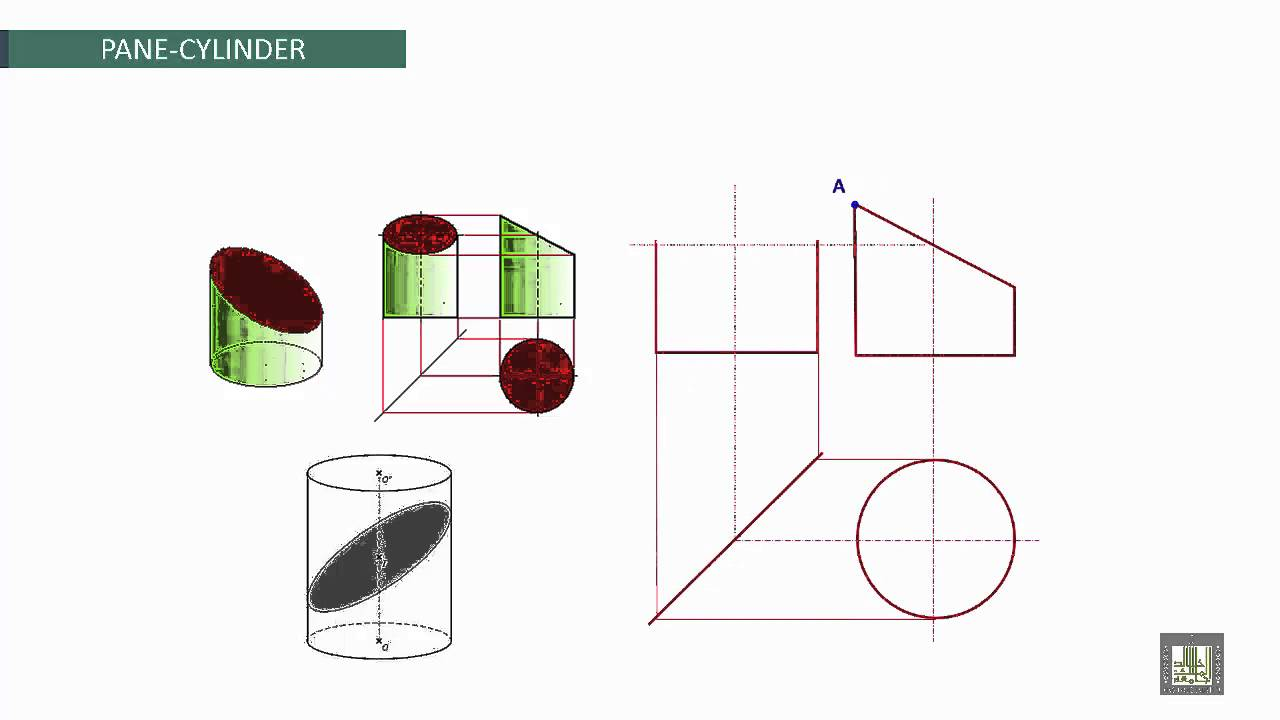 Engineering Drawing 2 | Ch5 | Cylinder intersection - YouTube