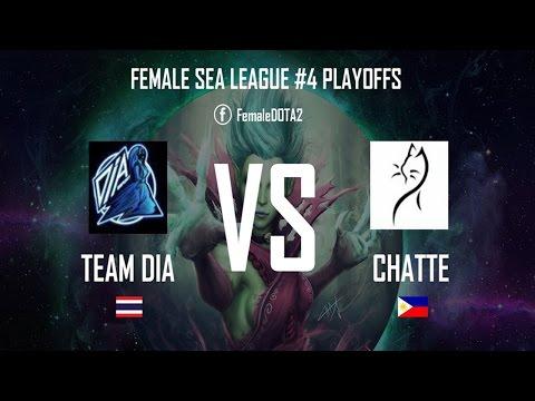 ENGLISH cast! Team DIA(Thai) vs Team Chatte(PH) Female SEA League