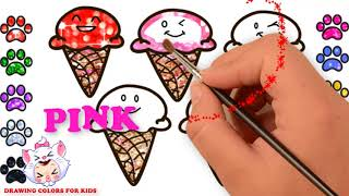 How To Draw ice cream | Learn Color With Ice Cream For Kids | Drawing Colors For Kids