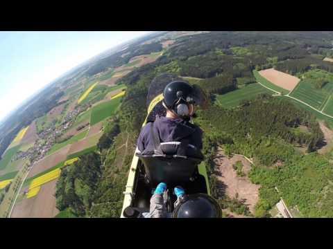 Aichach von oben - Gyrocopterflug mit meinem kleinen Sohn übern Landkreis Aichach
