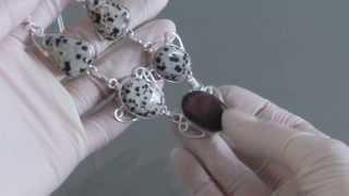 Necklace Jasper+dalmatian Jasper 49,5cm M4940