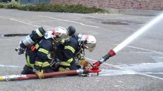 Manoeuvre Incendie Sapeurs-Pompiers de Barr part.2