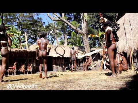 Dani dancing in Baliem Valley - West Papua , Footage - HD
