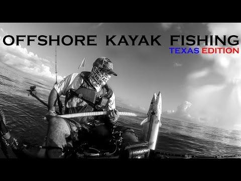 Offshore Kayak Fishing with flying SHARK and HUGE King Mackerel