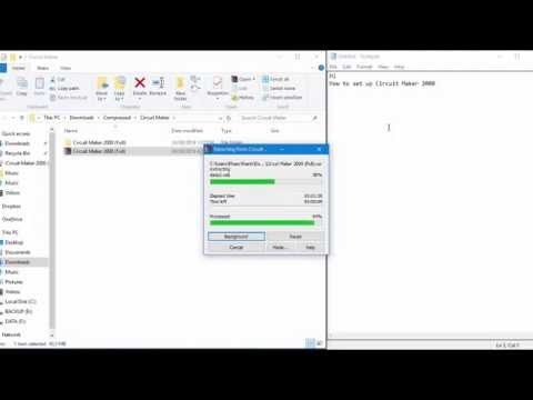 How to set up Circuit Maker 2000 ( With link download ) - YouTube