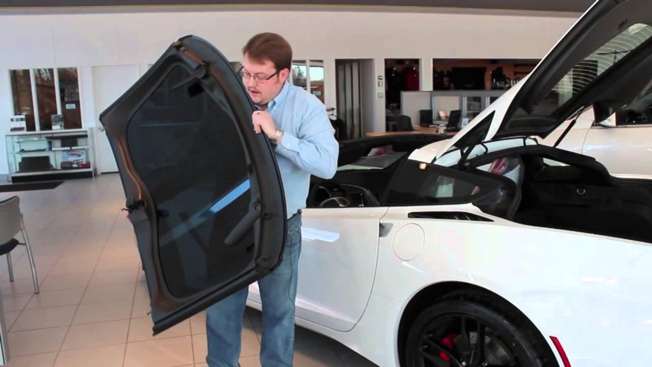 Removing The Targa Top On The 2014 Stingray Corvette At