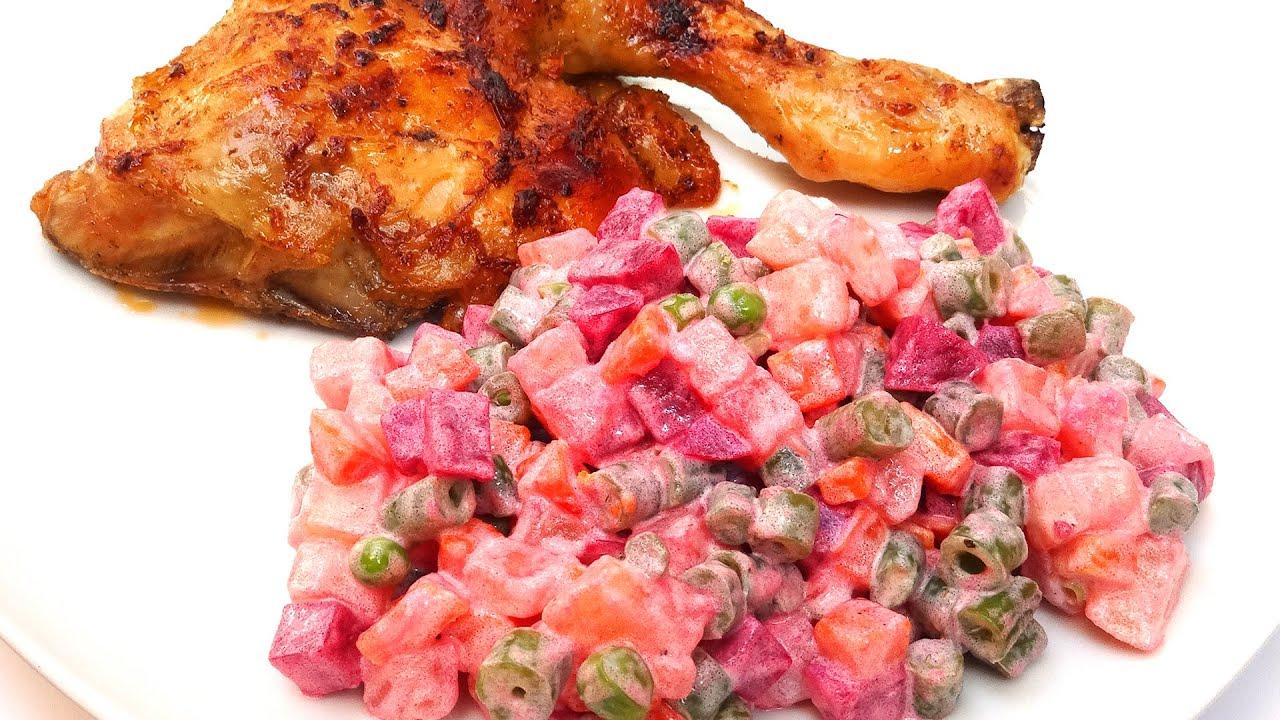 recipe: ensalada rusa con pollo al horno [1]