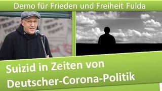 Demo Frieden und Freiheit Fulda/ 12.12.20/ Suizid in Zeiten von deutscher Corona-Politik