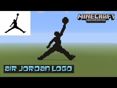 Minecraft: Pixel Art Tutorial and Showcase: Air Jordan Logo (Michael Jordan) (Jumpman)