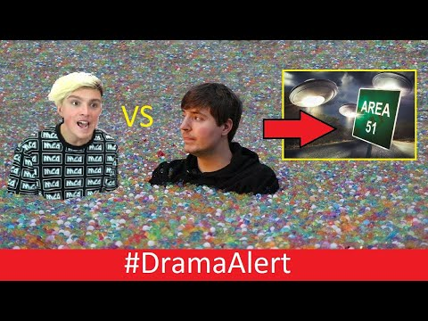Mrbeast vs Morgz ( He MAD! ) #DramaAlert  YouTubers Arrested for Storming Area 51!
