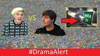 Download Mrbeast vs Morgz ( He MAD! ) #DramaAlert  YouTubers Arrested for Storming Area 51! Mp3 and Videos