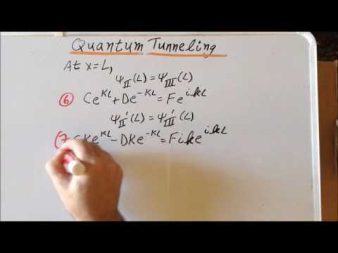 Quantum tunneling wavefunction derivation, part 1
