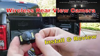 Auto-Vox wireless rear view camera install & review