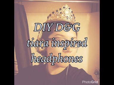DIY Dolce & Gabana inspired tiara headphones