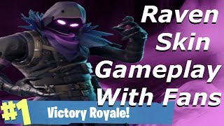 Raven Skin Gameplay & Victory Royale With Fans! Fortnite Battle Royale Part 1