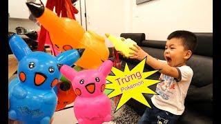 Trò Chơi Bé Bắp Săn Tìm Trứng Pokemon – Bóc Trứng Tìm Đồ Chơi Trẻ Em ♥ CreativeKids ♥