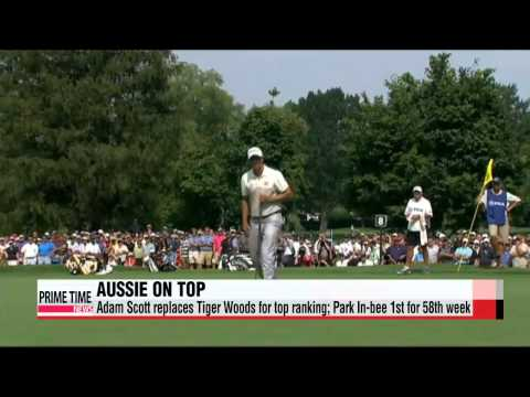 Golf: Adam Scott overtakes Tiger for No. 1; Park In-bee top rankings for 58th week