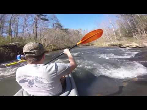 Covert Kayak Trip - Jacob Fork River @2.0ft, Hickory NC. 04/09/17