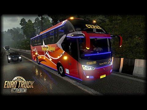 Ke Cimahi Via Tol Cipularang diguyur Hujan !! / ETS 2 Mod Indonesia