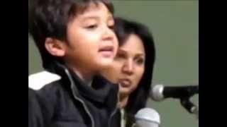 cute baby singing