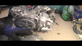 YZ125 Part 12: 2 Stroke Installing  Clutch Cover and Side Case