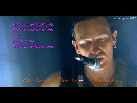 U2  With Or Without You   1987  lyrics