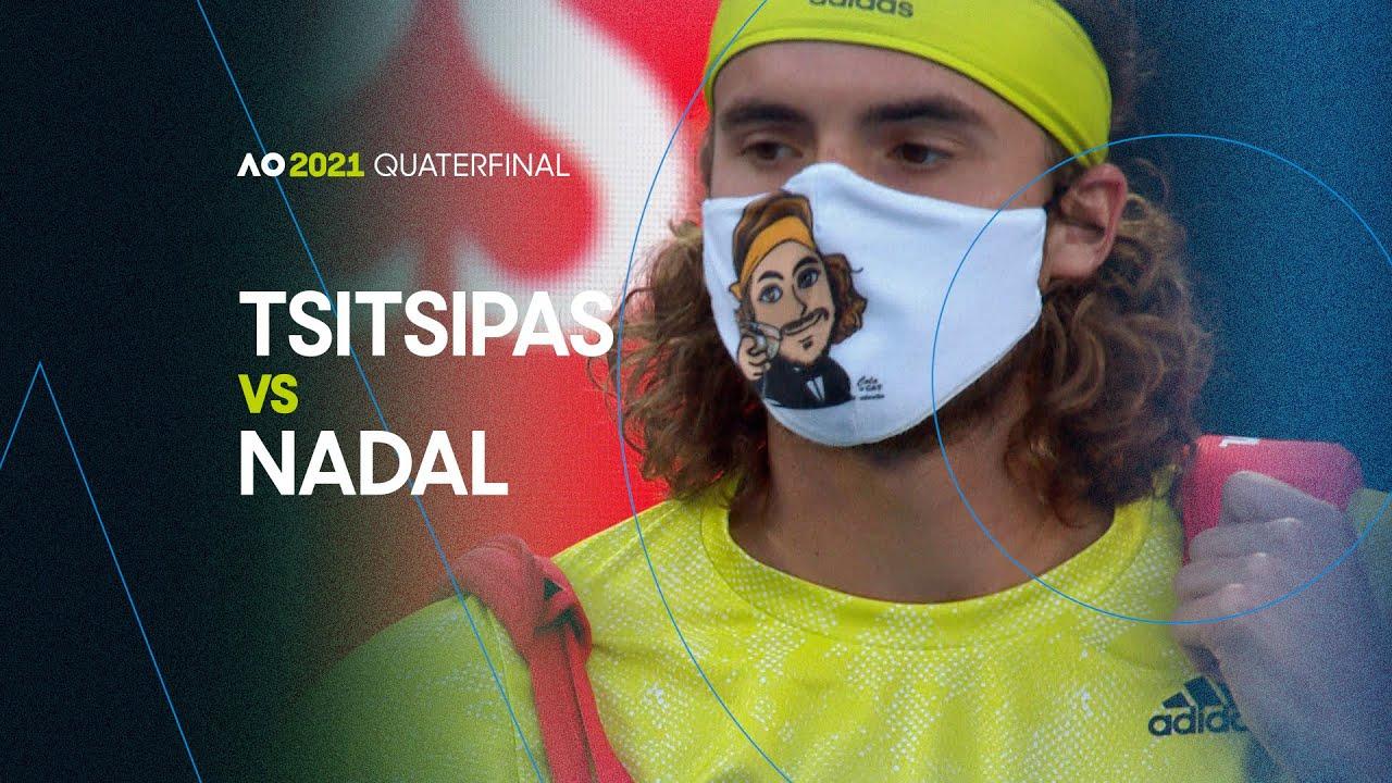 Rafael Nadal vs Stefanos Tsitsipas - Australian Open 2021 Quarterfinal | AO Classics
