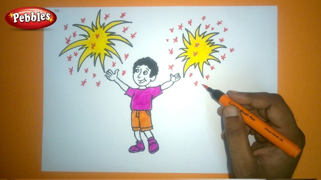 How To Draw Diwali Festival Drawing Diwali Drawing For Kids Step By Step Drawing Tutorial