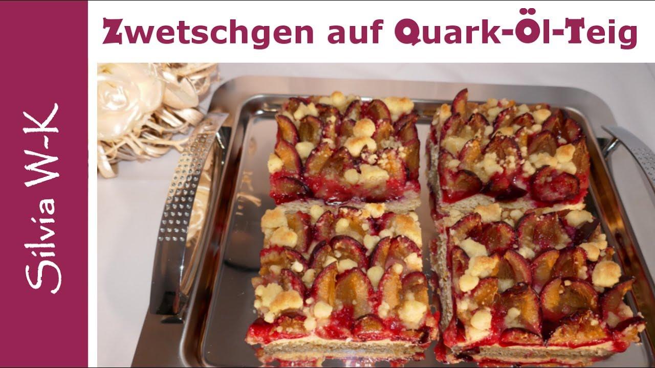 Zwetschgenkuchen Saftig Quark Ol Teig Streusel Pflaumenkuchen