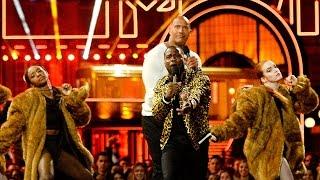 "Kevin Hart & The Rock Rap Leo Got ""F**ked By A Bear"" In Movie Recap At MTV Movie Awards 2016"