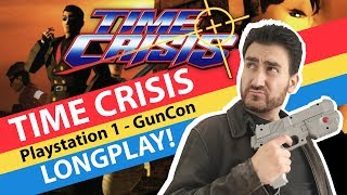 TIME CRISIS PS1/PSX GunCon - FULL LONGPLAY!