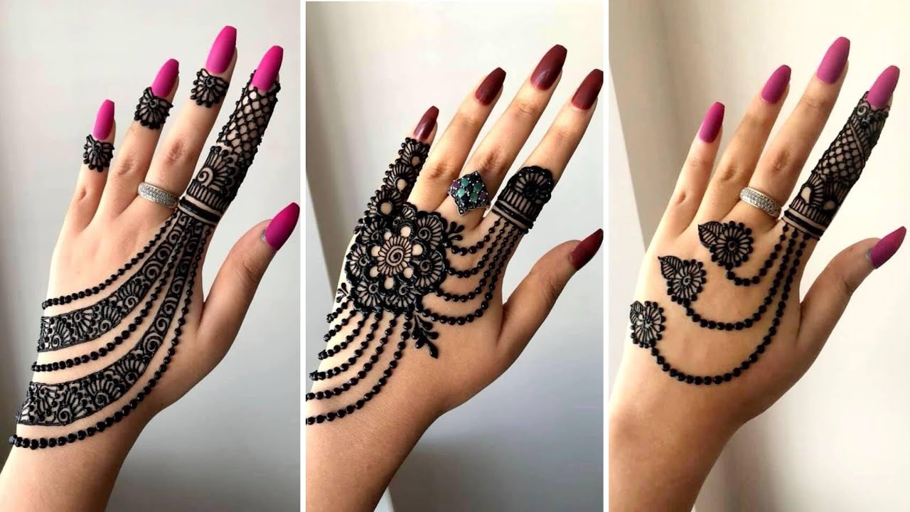 beautiful jewellery mehndi design