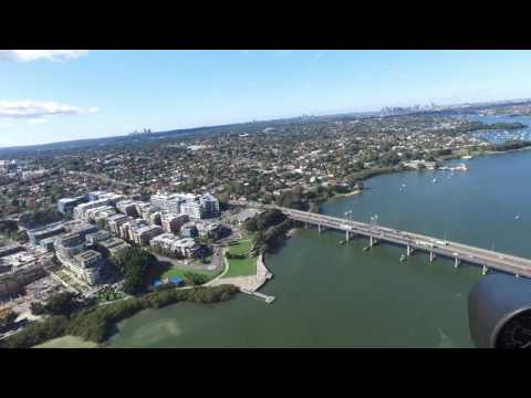 Bankstown Airport to Northern Beaches and Back in a R44 (Raw Edit)