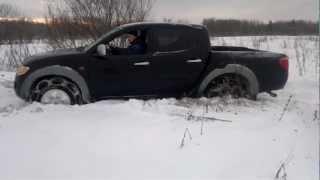 Л 200 в снегу