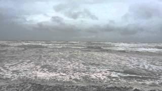 Tropical storm Bill on the Galveston seawall