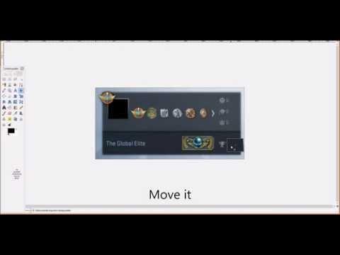 CS:GO - How can make fake CS:GO rank photo