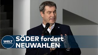 """WAHL IN THÜRINGEN: Markus Söder – """"Dieser ganze Tag nützt nur der AfD"""""""