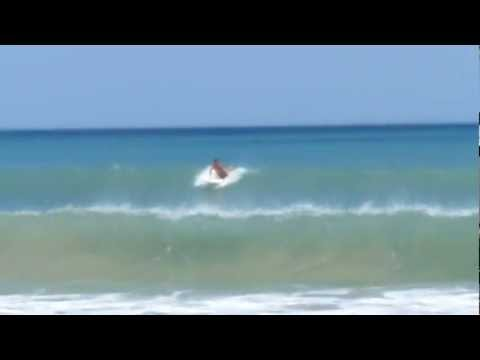 Surfing in Indialantic. Fl on a small good day.