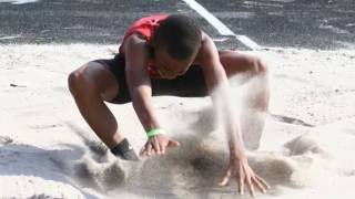 2016 Devin Graham - Long Jump AAU Florida District Qualifier at Ponte Vedra, FL
