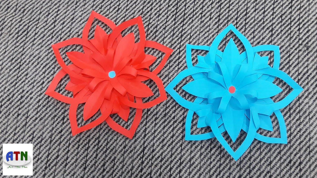 Awesome DIY Flower With Color Paper | How To Make Paper Flowers ...