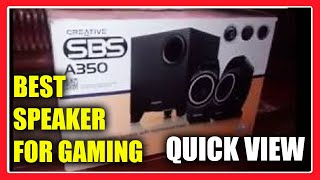 Creative SBS A350 Speaker on Sound Test Preview the features